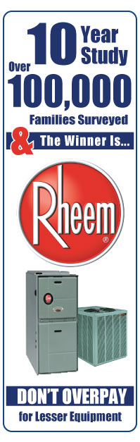 Rheem Furnaces and Rheem Air Conditioners installed by Chicago's largest Rheem dealer.